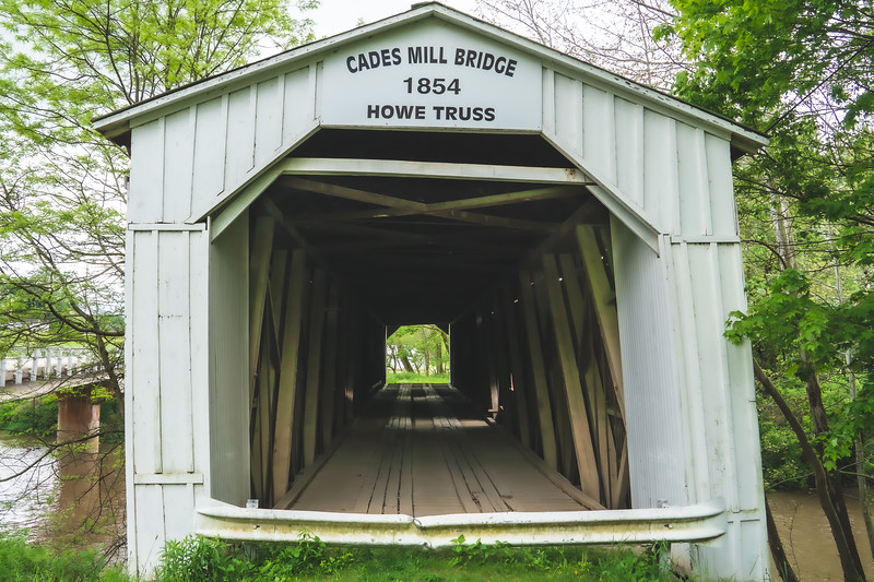 Cades Mill Covered Bridge in Fountain County Indiana