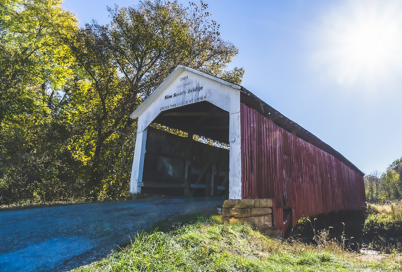 Sim Smith Covered Bridge in Parke County Indiana