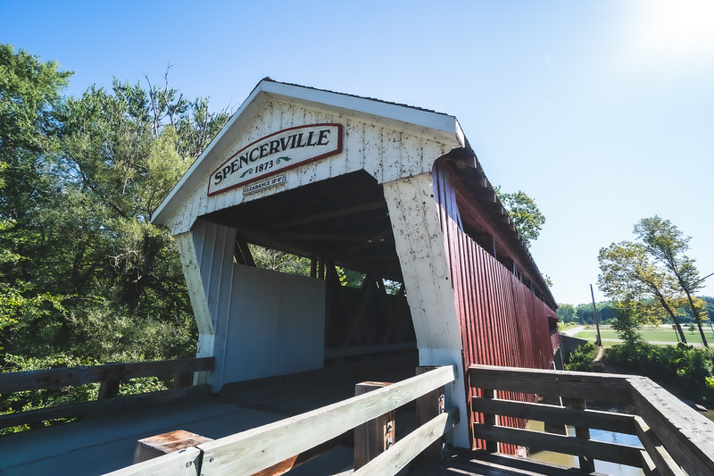 Spencerville Covered Bridge in DeKalb County Indiana