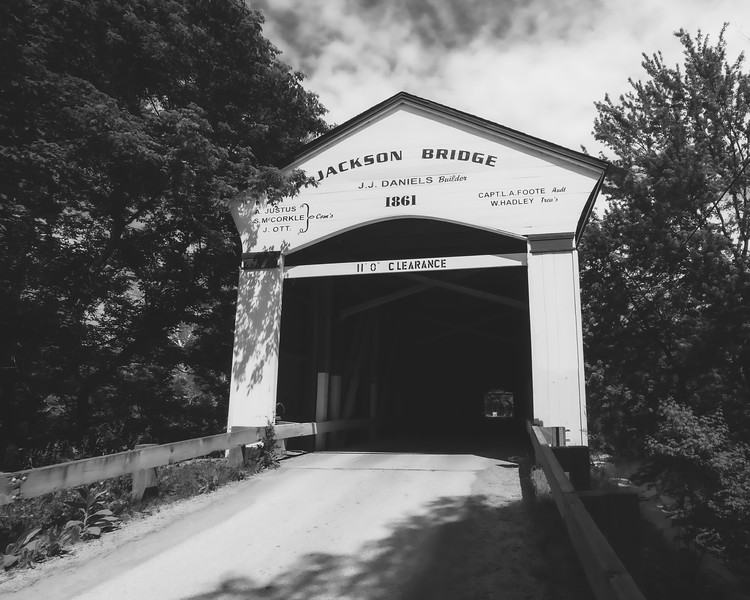 Jackson Covered Bridge in Parke County Indiana