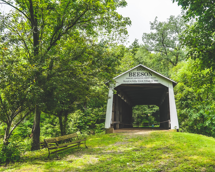 Beeson Covered Bridge in Parke County Indiana