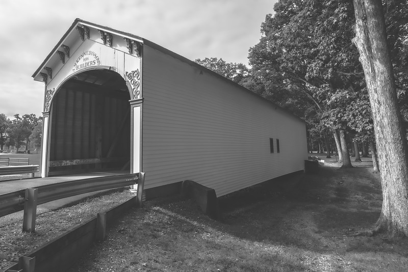 Crown Point Covered Bridge (Milroy Covered Bridge) in Lake County Indiana