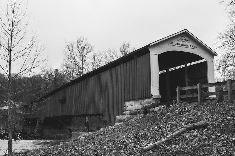 Deer's Mill Covered Bridge in Montgomery County Indiana
