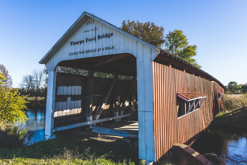 Thorpe Ford Covered Bridge in Parke County Indiana