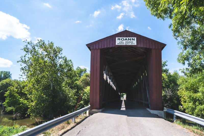 Roann Covered Bridge in Wabash County Indiana
