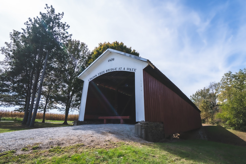 Hillsdale Covered Bridge (Possum Bottom Covered Bridge) in Vermillion County Indiana