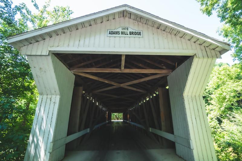 Adams Mill Covered Bridge in Carroll County Indiana