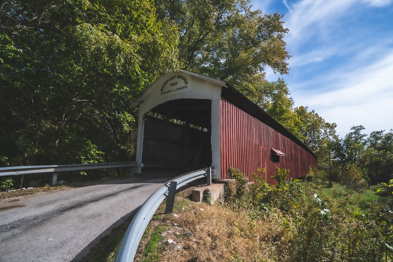 Newport Covered Bridge in Vermillion County Indiana