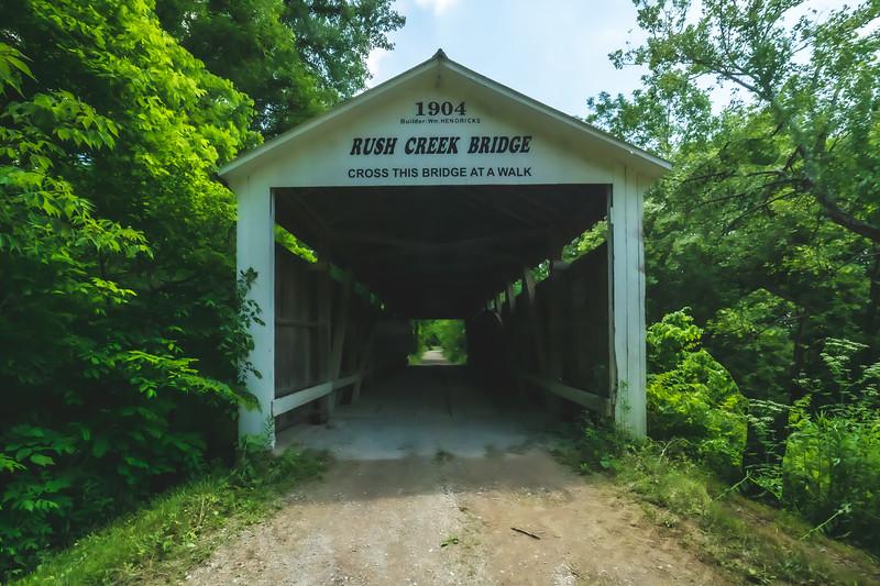 Rush Creek Covered Bridge in Parke County Indiana