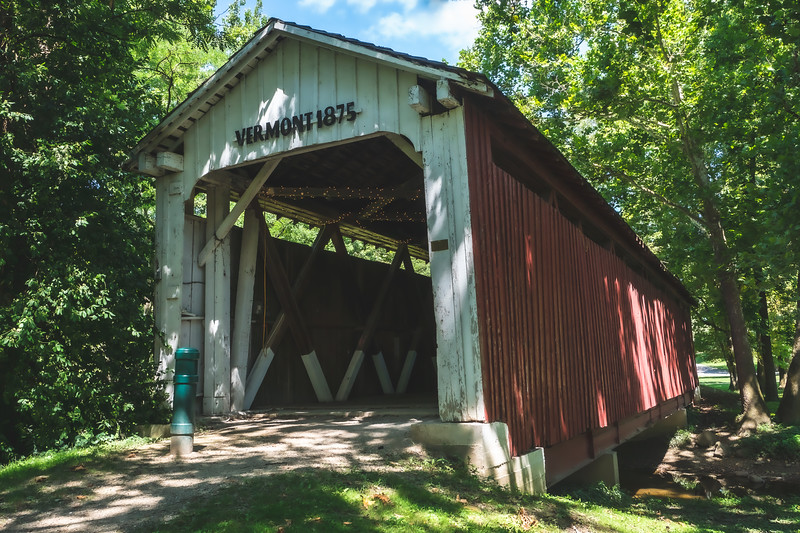 Vermont Covered Bridge in Howard County Indiana