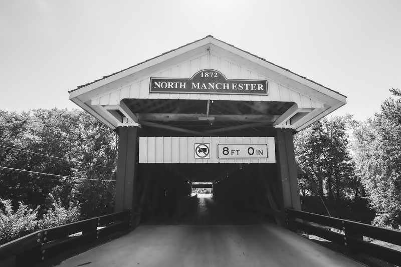 North Manchester Covered Bridge in Wabash County Indiana
