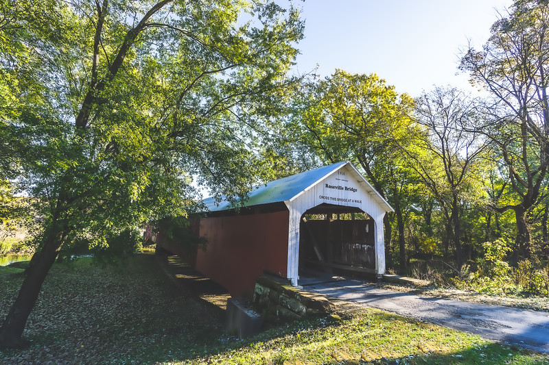Roseville Covered Bridge in Parke County Indiana