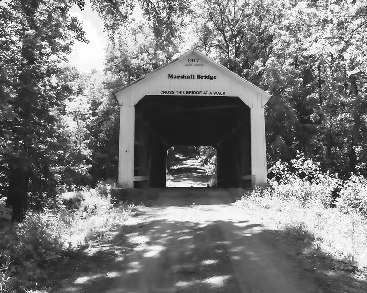 Marshall Covered Bridge in Parke County Indiana