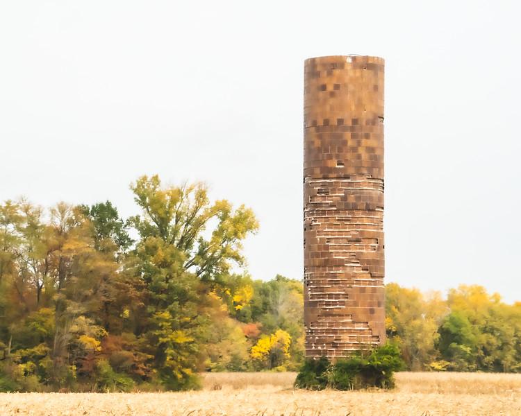 Old Silo in Southern Vigo County Indiana