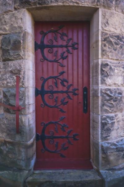 St. Meinrad Archabbey Church door in St. Meinrad Indiana
