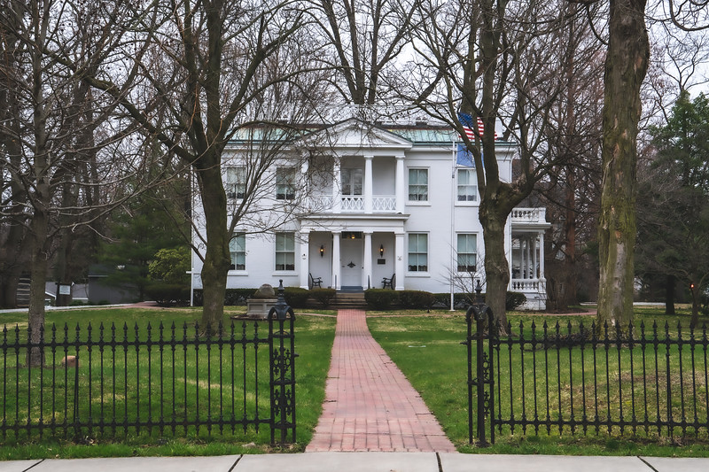 The Lane Place Antebellum Mansion in Crawfordsville Indiana