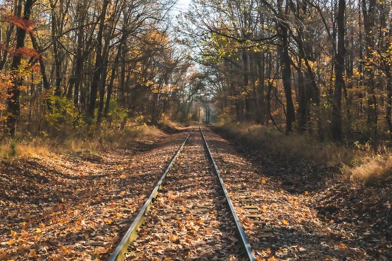 Railway near Lincoln City Indiana