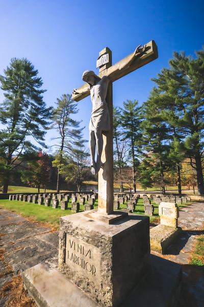 St. Meinrad Archabbey Cemetery in St. Meinrad Indiana