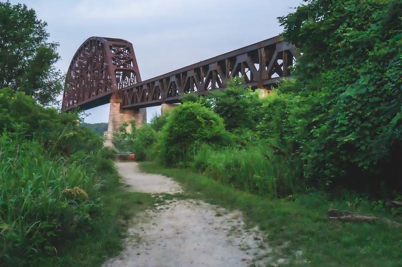 Conrail Railroad Bridge in Clarksville Indiana