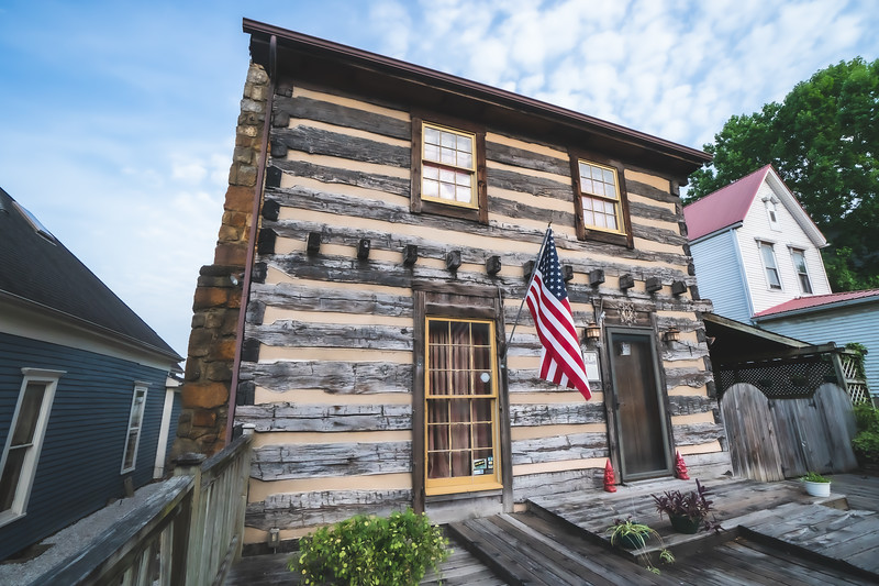 William Henry Harrison Log Cabin in Corydon Indiana