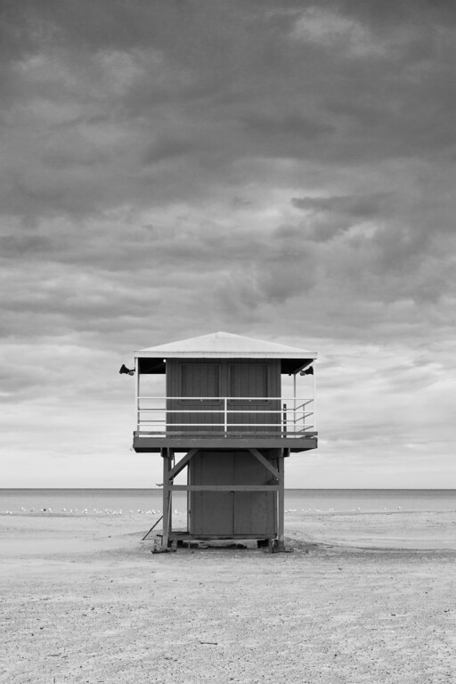 Lifeguard station in Washington Park beach. Michigan City, IN<br /> <br /> IN-091025-0002-2