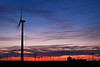 IN 013<br /> <br /> Sunset on a wind turbine farm near Earl Park in Benton County, Indiana.