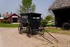 An Amish buggy at the Amish Acres cultural village in Nappanee, Indiana, USA.