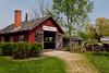 A blacksmith shop at the Amish Acres cultural village in Nappanee, Indiana, USA.