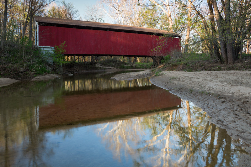 Sycamore Reflections and Melcher Bridge