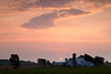 Rural sunrise over an Amish Farm near Goshen. Elkhart County, IN<br /> <br /> IN-100531-0001