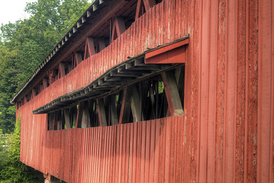 The Spencerville Covered Bridge in Spencerville, IN on Sunday, August 9, 2015. Copyright 2015 Jason Barnette