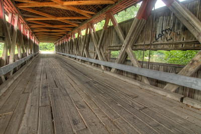 Spencerville Covered Bridge in Spencerville, IN on Sunday, August 9, 2015. Copyright 2015 Jason Barnette