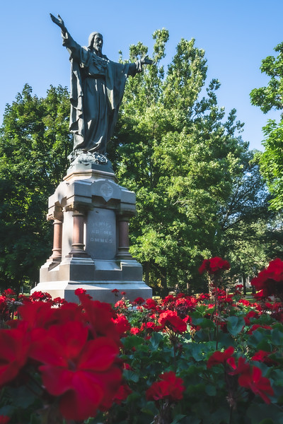 Sacred Heart Jesus Statue on the University of Notre Dame Campus in Notre Dame Indiana