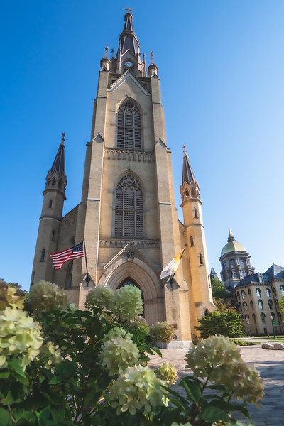 Basilica of the Sacred Heart on the University of Notre Dame Campus in Notre Dame Indiana