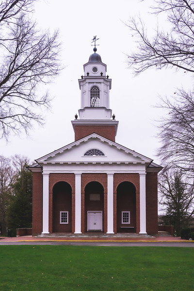The Pioneer Chapel on Wabash College in Crawfordsville Indiana