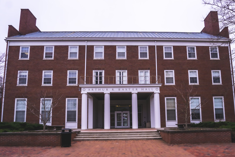Arthur R. Baxter Hall on Wabash College in Crawfordsville Indiana