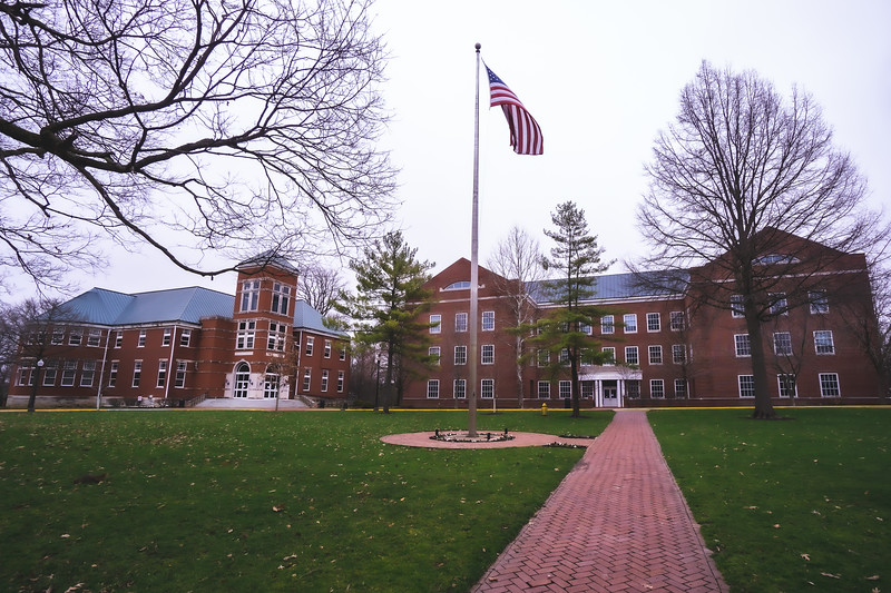 Detcon Center and Hays Hall on Wabash College in Crawfordsville Indiana