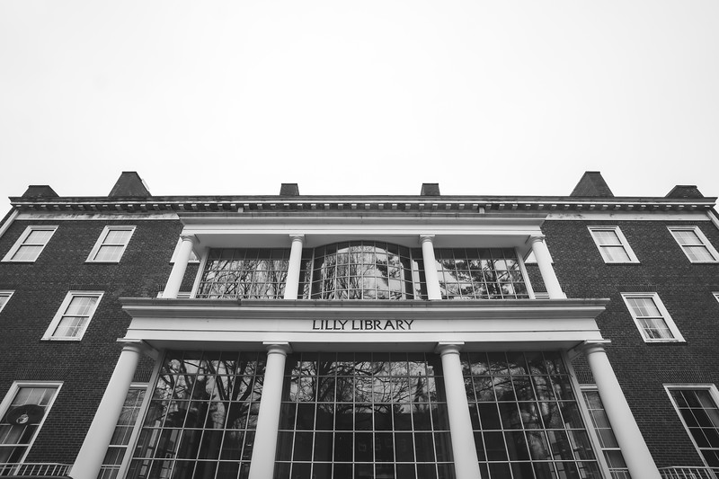 Lilly Library on Wabash College in Crawfordsville Indiana