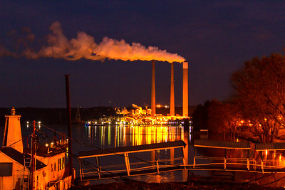Power Plant at Sunrise in Madison, IN