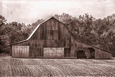 Barn in Illinois with Western Effect