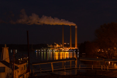Power Plant on River in Madison