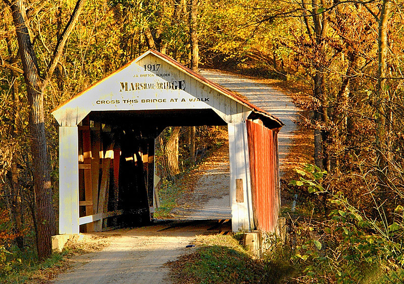 Marshall Bridge -  Turkey Run State Park, Indiana - Mary Anderson - October 2010