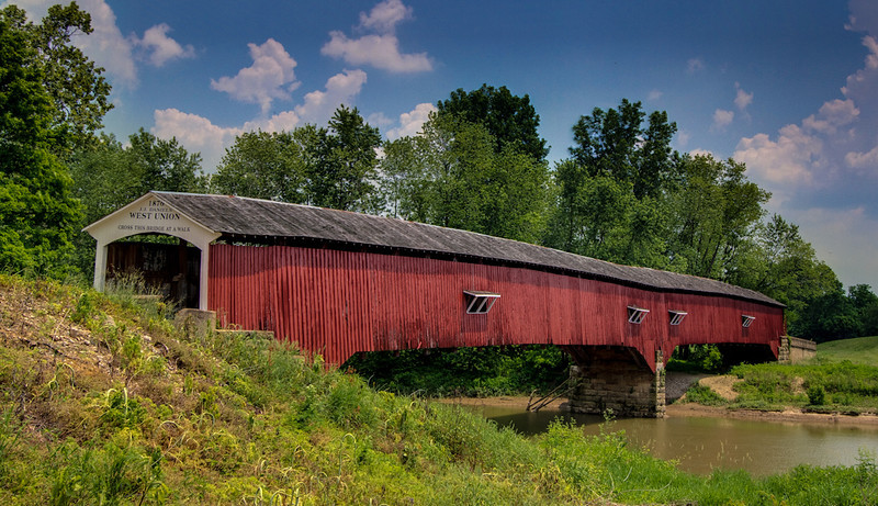 Covered Bridge - HDR Image - Turkey Run State Park, Indiana - Jay Brooks - May 2010