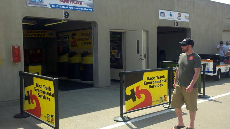 Gasoline Alley--Drivers' Garages