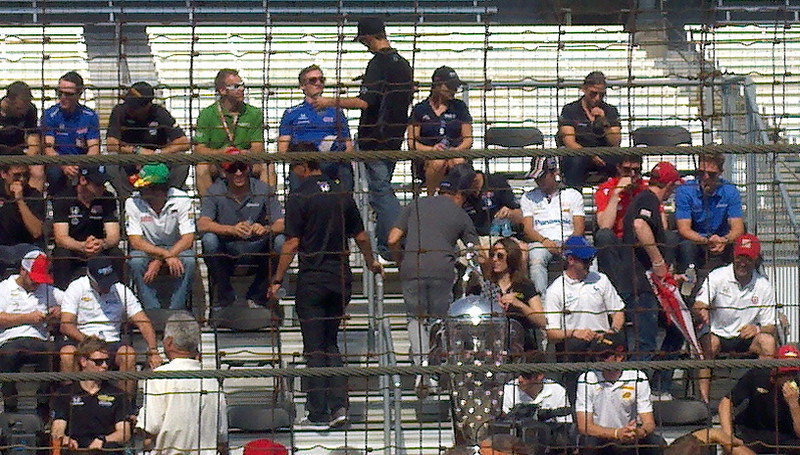 Dario Franchitti second row from bottom, far right