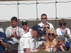 Dan Wheldan's wife and child receiving 2011 winner's trophy