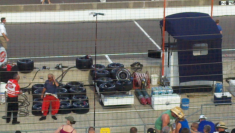 We were above Justin Wilson, Hinchcliffe, and Franchitti's pits