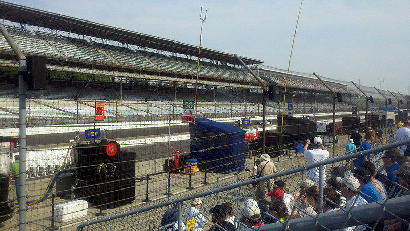 Looking down pit row on Saturday...