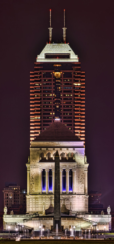 The Chase Tower/Indiana War Memorial