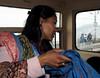 Trying to sell pashminas on the Joy Train, Darjeeling, Fri 30 March 2012.